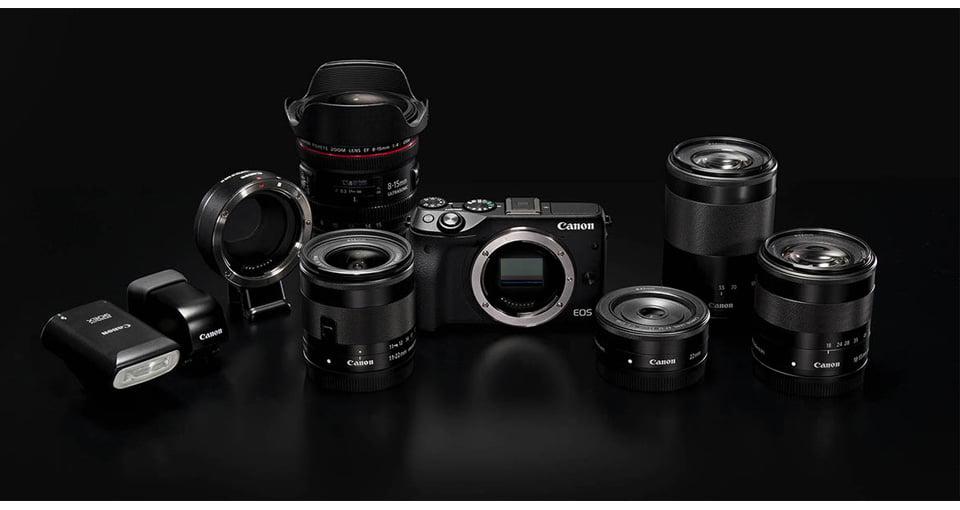 دوربين ديجيتال بدون آينه کانن مدل EOS M10 به همراه لنز ۴۵-۱۵