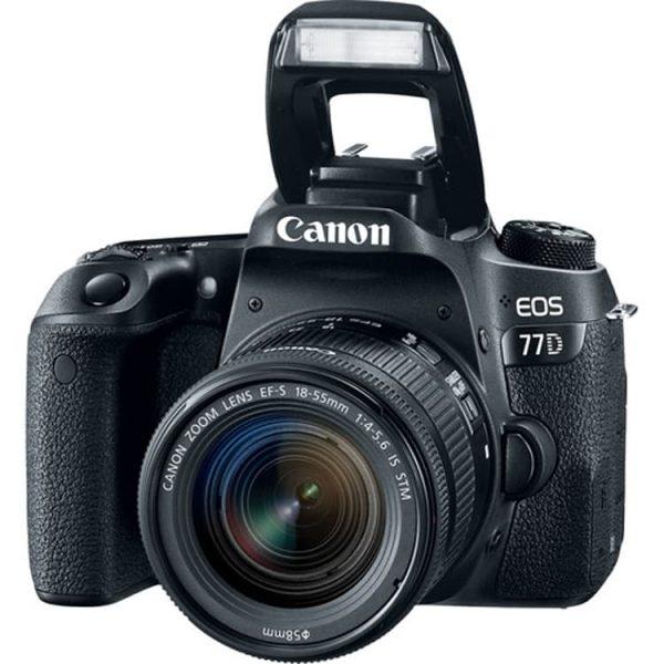 دوربین عکاسی کانن مدل 77D با لنز ۵۵-۱۸