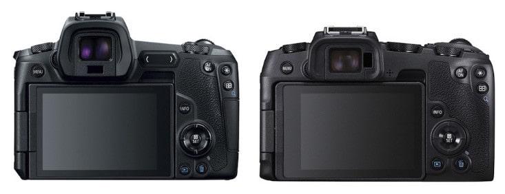 مقایسه دوربین های EOS Rو EOS RP