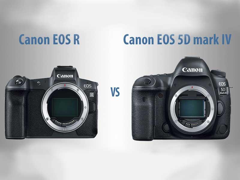 مقایسه دوربین کانن 5D Mark IV و دوربین کانن EOS R