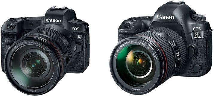 مقایسه دوربین کاننEOS R و دوربین 5D