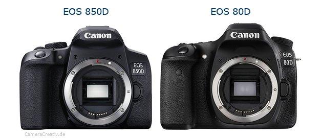 مقایسه دوربین کانن 850D و دوربین کانن 80D