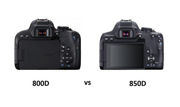 مقایسه دوربین کانن 800D و دوربین کانن 850D